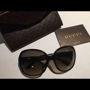 Gucci 58MM Square Black Sunglasses 😎